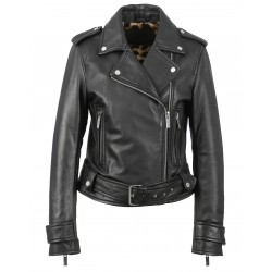 SHOW OFF (REF. 63268) BLACK - GENUINE LEATHER JACKET WITH SILVER FINISHES - YASMINE & L'ARMOIRE DE SOSO COLLABORATION