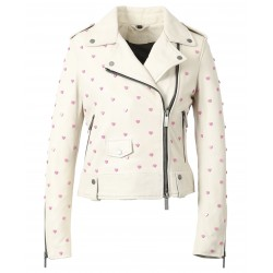 63157 - WHITE LEATHER JACKET IMAGINATION