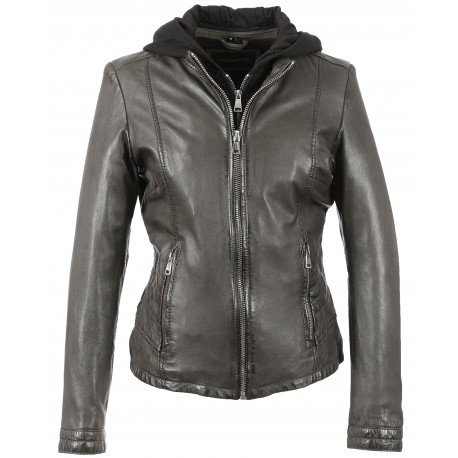 OTHER (REF. 63392) ANTHRACITE - BLOUSON CUIR VÉRITABLE