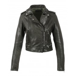 KYOTO (REF. 62966) COGNAC - WASHED LOOK GENUINE LEATHER JACKET