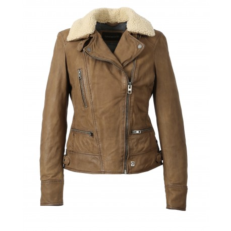 PROJECTION (REF. 62971) COFFEE – GENUINE NUBUCK LEATHER JACKET