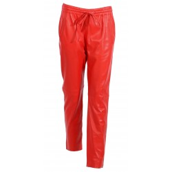 GIFT (REF. 62772) RED - GENUINE LEATHER JOGPANTS