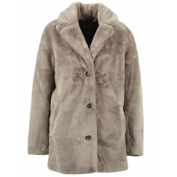 USER (REF. 63441) DARK BEIGE - FAKE FUR COAT