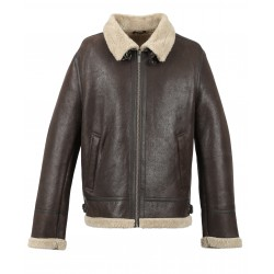 CENTURY (REF. 63338) BROWN - GENUINE LEATHER AVIATOR JACKET