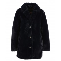 USER (REF. 63441) NAVY BLUE - FAKE FUR COAT