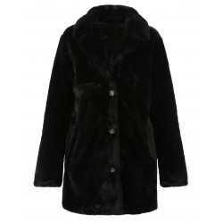 USER (REF. 63441) BLACK - FAKE FUR COAT