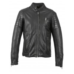 PETER (REF. 63393) BLACK - GENUINE LEATHER JACKET