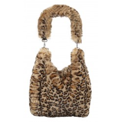 BAGGY (REF 63451) BEIGE / LEOPARD - REVERSIBLE BAG
