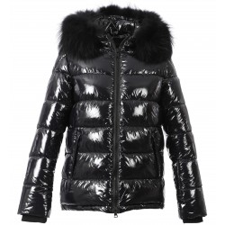 UNIVERSAL (REF. 63332) BLACK- SHINY NYLON SHORT LENGHT DOWN JACKET