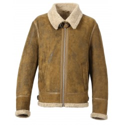 CENTURY (REF. 63338) COFFEE - GENUINE LEATHER AVIATOR JACKET