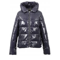 PUMP (REF. 63494) PETROL - SHINY NYLON SHORT DOWN JACKET