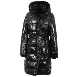 STUDIO (REF. 63326) BLACK - SHINY NYLON LONG DOWN JACKET