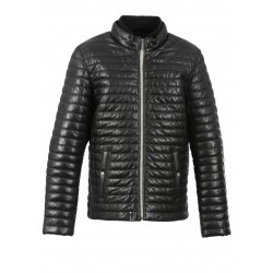 GANG (REF. 63490) BLACK - GENUINE LEATHER DOWN JACKET
