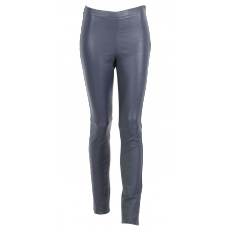 ASTEROID (REF. 60438) PETROL - STRETCH SMOOTH GENUINE LEATHER LEGGINGS