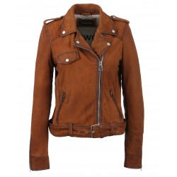 PLEASE (REF. 62988) WHISKY – GENUINE NUBUCK LEATHER JACKET