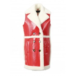FEEL (REF. 63304) FIRE - SLEEVELESS SHINY LONG COAT
