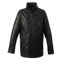 HILLS ( REF.63398) BLACK - GENUINE LEATHER JACKET