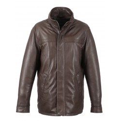 HILLS ( REF.63398) BROWN - GENUINE LEATHER JACKET