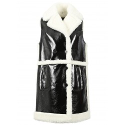 FEEL (REF. 63304) DISCO BLACK - SLEEVELESS SHINY LONG COAT
