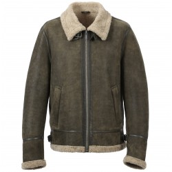 CENTURY (REF. 63338) DARK KHAKI- GENUINE LEATHER AVIATOR JACKET