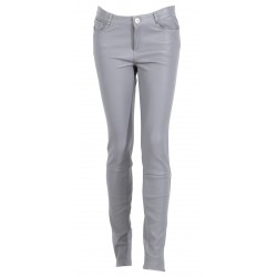 PANDORA 1 (REF. 60971) GREY- STRETCH SKINNY GENUINE LEATHER PANTS