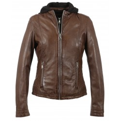 OTHER (REF. 63392) TABACCO- GENUINE LEATHER JACKET