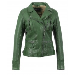 CAMERA (REF. 60861) GREEN - GENUINE LEATHER JACKET