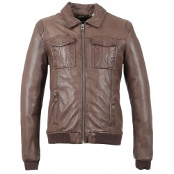 BOOSTER (REF. 63389) WHISKY - GENUINE LEATHER JACKET
