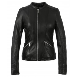 KEREN (REF. 63555) BLACK - GENUINE LEATHER JACKET