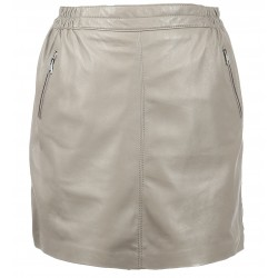 STREET (REF. 63562) MASTIC - MINI SKIRT WITH SILVERY ZIPPED POCKETS