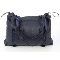 WEEKEND (REF. 63564) NAVY BLUE - GENUINE LEATHER WEEKEND BAG