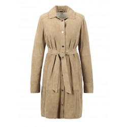 RIVER (REF. 63538) BEIGE - GOAT SUEDE SHIRT DRESS