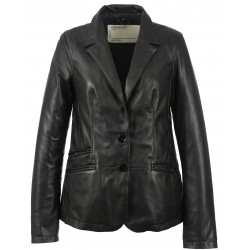 SANDY (REF.63573) BLACK - GENUINE LEATHER JACKET