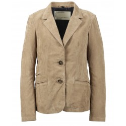 SANDY (REF.63540) BEIGE- GENUINE GOAT SUEDE LEATHER JACKET
