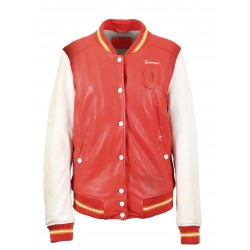 STATES (REF. 63615) FIRE - GENUINE LEATHER VARSITY JACKET