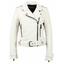 SHOW (REF. 62566) WHITE - GENUINE LEATHER JACKET