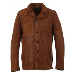 LEO (REF. 63581) WHISKY - GENUINE NUBUCK LEATHER JACKET