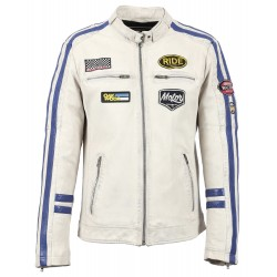 HAMILTON (REF.63602) WHITE - GENUINE LEATHER JACKET
