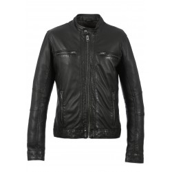 JACKSON (REF. 63586) BLACK - GENUINE LEATHER JACKET