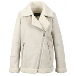 COMMANDER (REF. 63507) LIGHT GREY - FAUX SHEARLING REFINE BOMBER JACKET