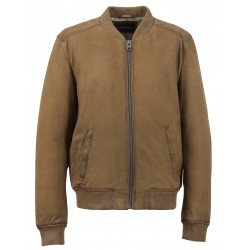 DAILY (REF.63579) COFFEE - GENUINE NUBUCK LEATHER JACKET