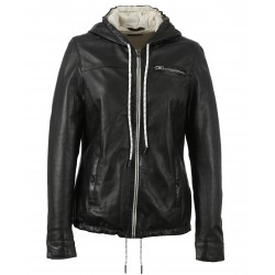 SUPREME (REF.63625) BLACK - GENUINE LEATHER JACKET