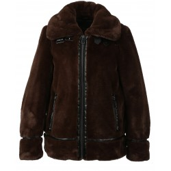 CULTURE (REF. 63784) DARK BROWN - BOMBER JACKET IN FAKE FUR