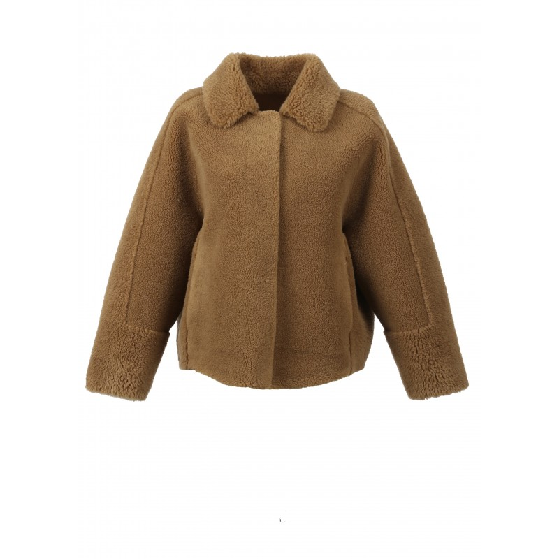 HELEN (REF. 63748) COGNAC - FAUX SHEARLING REVERSIBLE JACKET (100% WOOL)