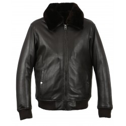 DADDY (REF. 63277) BROWN - GENUINE LEATHER AVIATOR JACKET