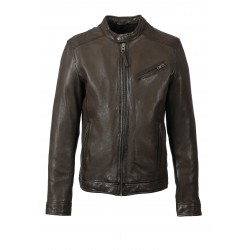 STEEVE (REF. 63868) LIGHT BROWN - GENUINE LEATHER INSPIRED BIKER JACKET