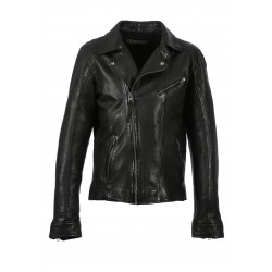 ANDY (REF. 63865) BLACK - GENUINE LEATHER BIKER JACKET
