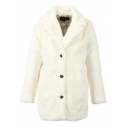 USER (REF. 63441) IVORY - FAKE FUR COAT