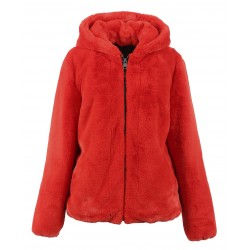 CONNECT (REF. 63051) FIRE- HOODED FAKE FUR JACKET