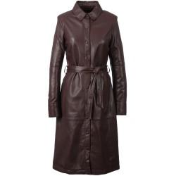 INDIANA (REF. 63567) WINE - GENUINE LEATHER DRESS